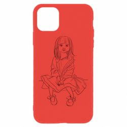 Чехол для iPhone 11 Outline drawing of a little girl