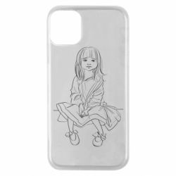 Чехол для iPhone 11 Pro Outline drawing of a little girl