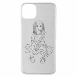 Чехол для iPhone 11 Pro Max Outline drawing of a little girl