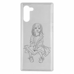 Чехол для Samsung Note 10 Outline drawing of a little girl