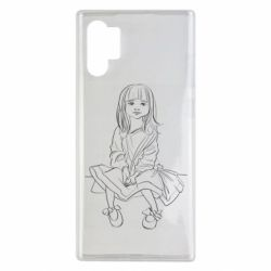 Чехол для Samsung Note 10 Plus Outline drawing of a little girl