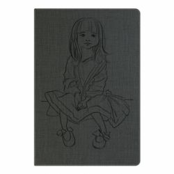 Блокнот А5 Outline drawing of a little girl