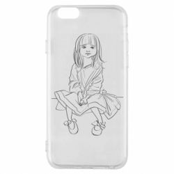Чехол для iPhone 6/6S Outline drawing of a little girl