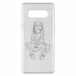 Чехол для Samsung Note 8 Outline drawing of a little girl