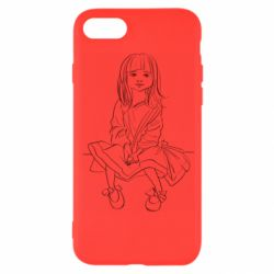 Чехол для iPhone 8 Outline drawing of a little girl