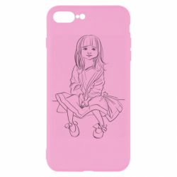 Чехол для iPhone 8 Plus Outline drawing of a little girl