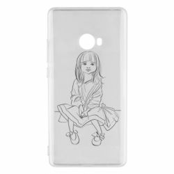 Чехол для Xiaomi Mi Note 2 Outline drawing of a little girl