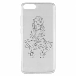 Чехол для Xiaomi Mi Note 3 Outline drawing of a little girl