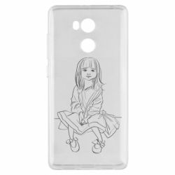 Чехол для Xiaomi Redmi 4 Pro/Prime Outline drawing of a little girl