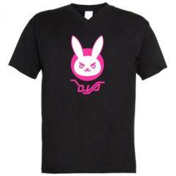 Чоловіча футболка з V-подібним вирізом Overwatch dva rabbit