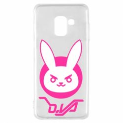 Чехол для Samsung A8 2018 Overwatch dva rabbit