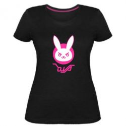 Жіноча стрейчева футболка Overwatch dva rabbit