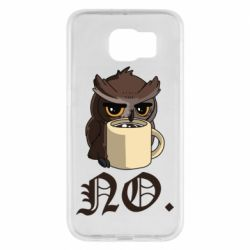 Чехол для Samsung S6 Owl and coffee