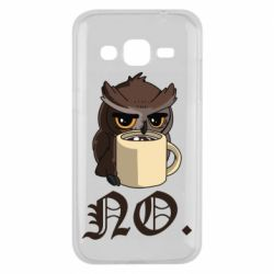 Чехол для Samsung J2 2015 Owl and coffee