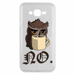 Чехол для Samsung J7 2015 Owl and coffee