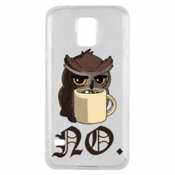 Чехол для Samsung S5 Owl and coffee