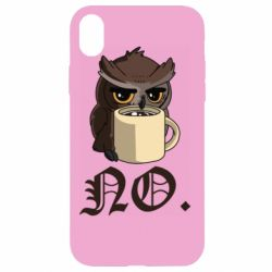 Чехол для iPhone XR Owl and coffee