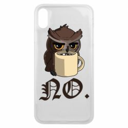 Чехол для iPhone Xs Max Owl and coffee