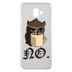 Чехол для Samsung J6 Plus 2018 Owl and coffee