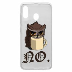 Чехол для Samsung A30 Owl and coffee