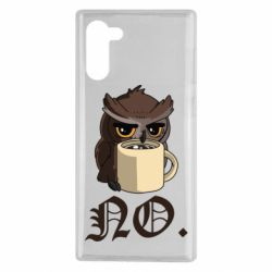 Чехол для Samsung Note 10 Owl and coffee