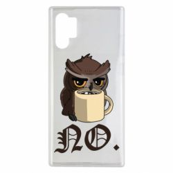 Чехол для Samsung Note 10 Plus Owl and coffee