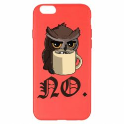 Чехол для iPhone 6 Plus/6S Plus Owl and coffee