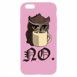 Чехол для iPhone 6/6S Owl and coffee