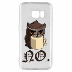 Чехол для Samsung S7 Owl and coffee