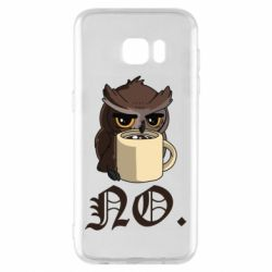 Чехол для Samsung S7 EDGE Owl and coffee