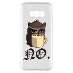 Чехол для Samsung S8 Owl and coffee