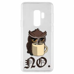 Чехол для Samsung S9+ Owl and coffee