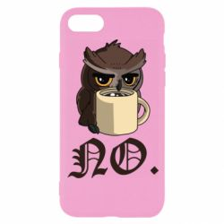 Чехол для iPhone 8 Owl and coffee