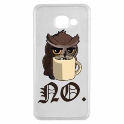 Чехол для Samsung A3 2016 Owl and coffee