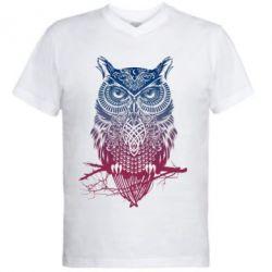 Мужская футболка  с V-образным вырезом Owl Art - FatLine