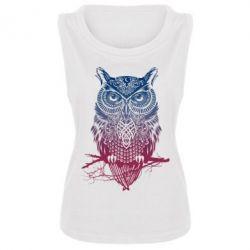 Женская майка Owl Art - FatLine
