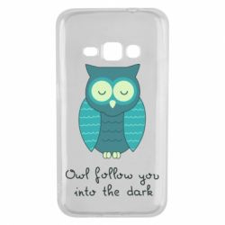 Чехол для Samsung J1 2016 Owl follow you into the dark