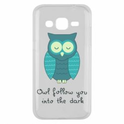 Чехол для Samsung J2 2015 Owl follow you into the dark