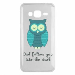 Чехол для Samsung J3 2016 Owl follow you into the dark