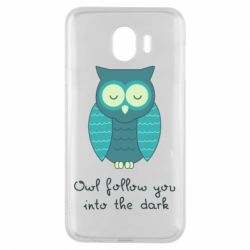 Чехол для Samsung J4 Owl follow you into the dark