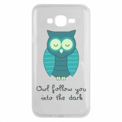 Чехол для Samsung J7 2015 Owl follow you into the dark