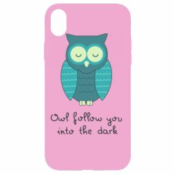 Чехол для iPhone XR Owl follow you into the dark