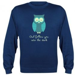 Реглан (свитшот) Owl follow you into the dark