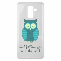 Чехол для Samsung J8 2018 Owl follow you into the dark