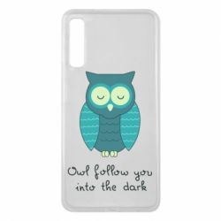 Чехол для Samsung A7 2018 Owl follow you into the dark
