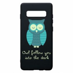 Чехол для Samsung S10+ Owl follow you into the dark
