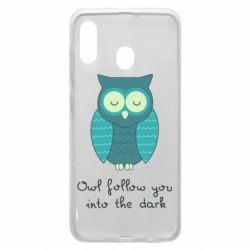 Чехол для Samsung A20 Owl follow you into the dark