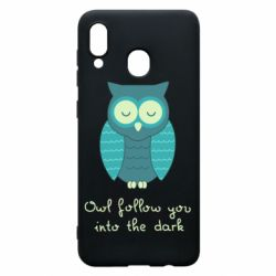 Чехол для Samsung A30 Owl follow you into the dark