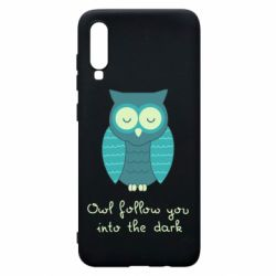 Чехол для Samsung A70 Owl follow you into the dark