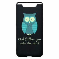 Чехол для Samsung A80 Owl follow you into the dark